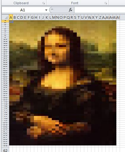 Mona Lisa in Excel