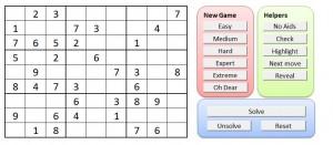Screenprint of the Sudoku puzzle creator