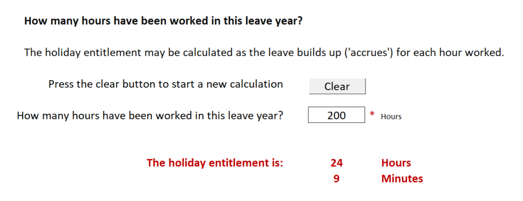 Calculating accrued leave for employees with casual or irregular hours